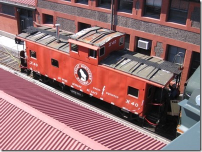 IMG_6040 Great Northern Caboose X40 at Union Station in Portland, Oregon on May 9, 2009