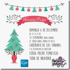 Se hará una Feria Pulpo edición navideña