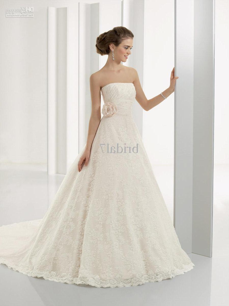 strapless wedding dresses 2011