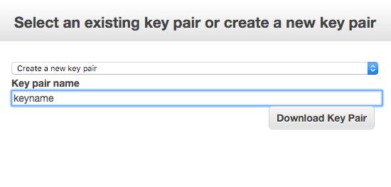 Download key pair .pem
