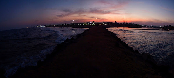 Chennai beach sunset ченнай побережье панорама
