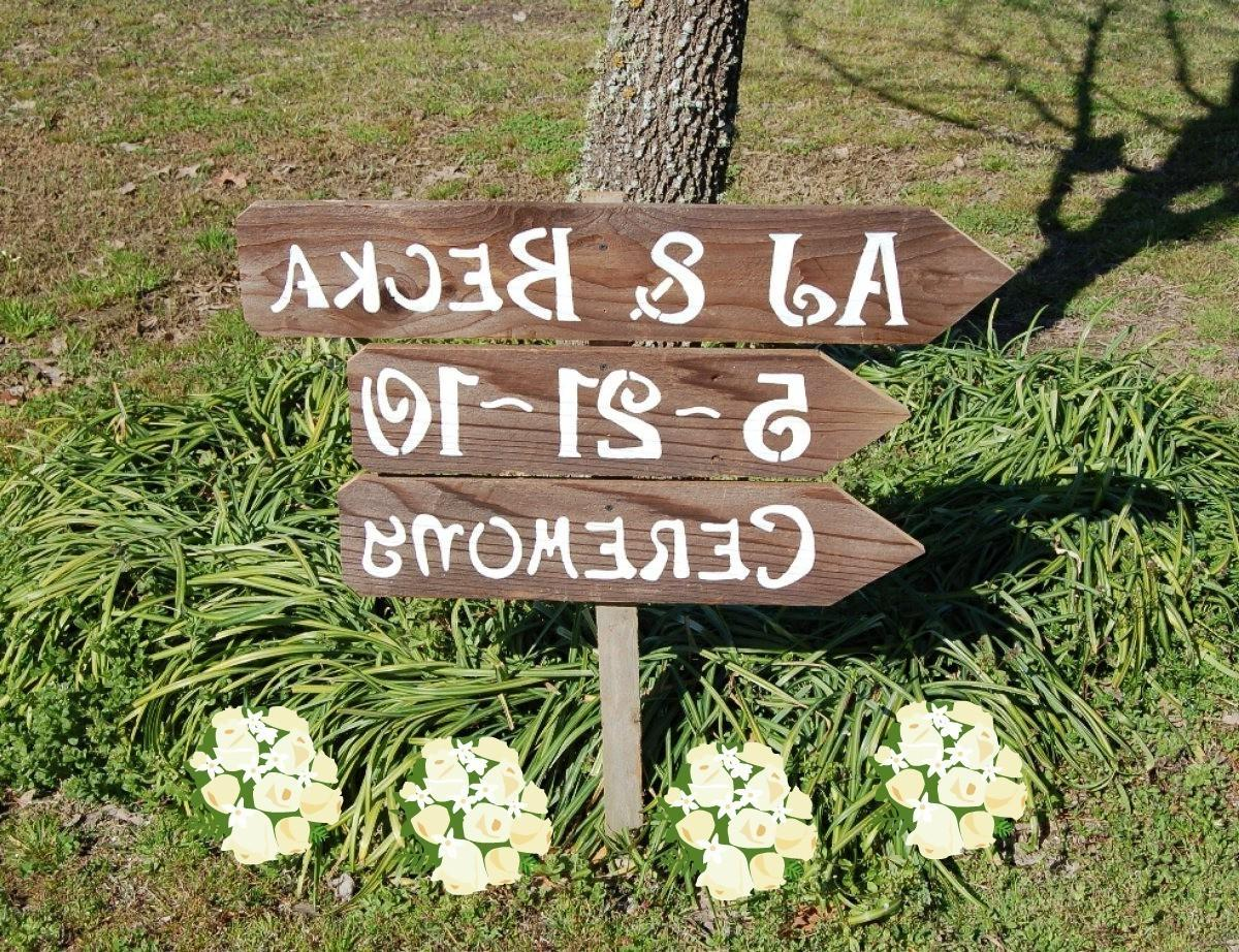 3 Wedding Signs with 1 Stake     Recycled Wood    Custom Made Just For You