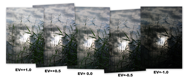 The unprocessed Bracketedv Set of Photos