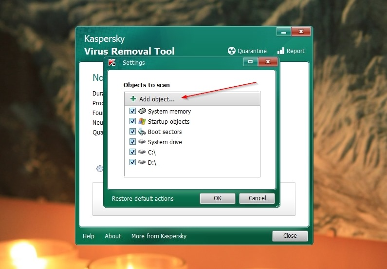 kaspersky free virus removal tool parameters