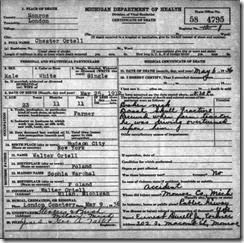ORTELL_Chester_death cert_6 May 1936_LondonMonroeMichigan