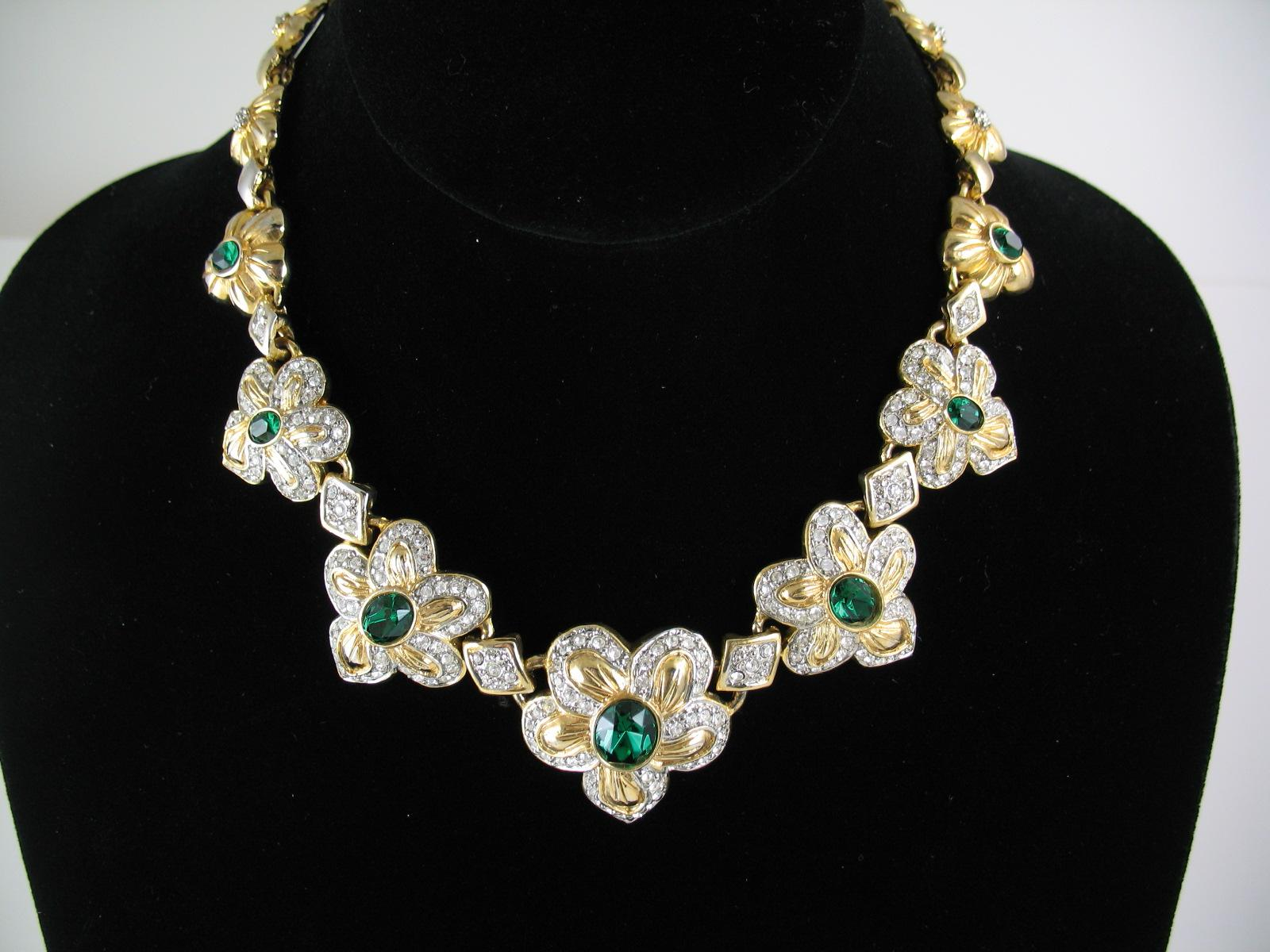 green wedding collar necklace
