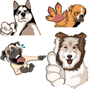 Dogs Chat Stickers