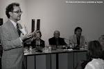 En la mesa: Amparo Martínez Gil, Inmaculada Tomás, Juan Grecos, Presidente de Amigos de la Guitarra de Valencia y Carlos Jaramillo, alumno de Rosa y uno de los guitarristas del cd.