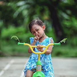 silent please by Galih Wicaksono - Babies & Children Child Portraits