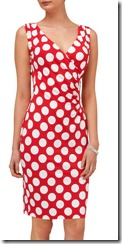 Phase Eight red spot print dress