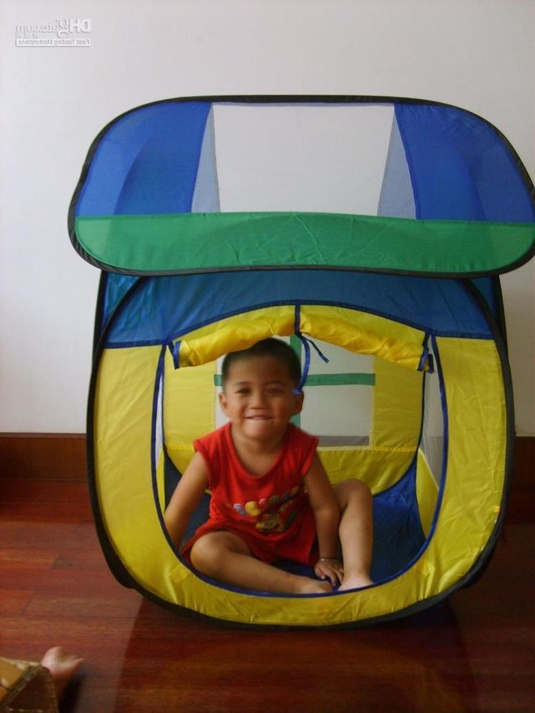 It is a pop up house like tent, carry-home, waterproof ,safe ,funny and
