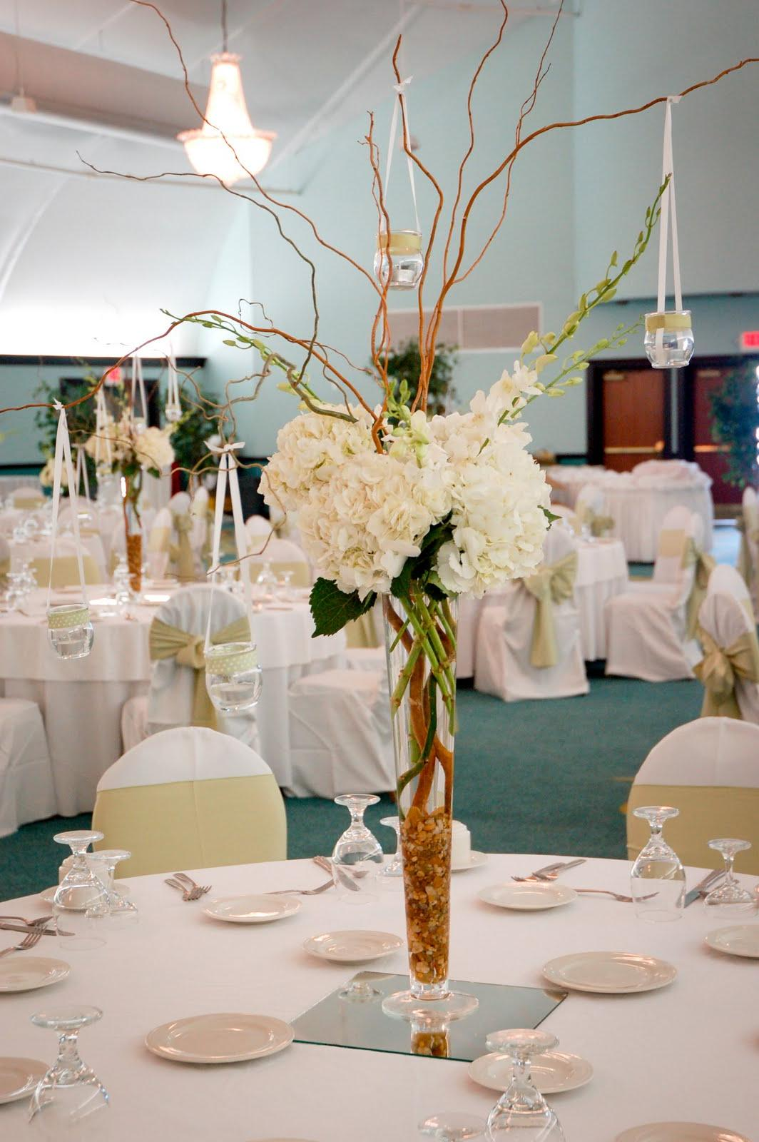 a few wedding centerpieces