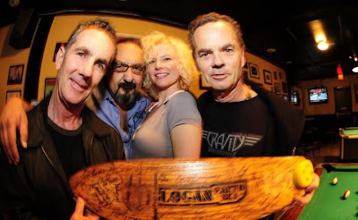 Brad, Mofo, Jeannie Krissy and Bruce. Mofo came and met with Bruce and presented him one of his old boards filled with signatures of skaters, way cool! Thanks Mofo........
