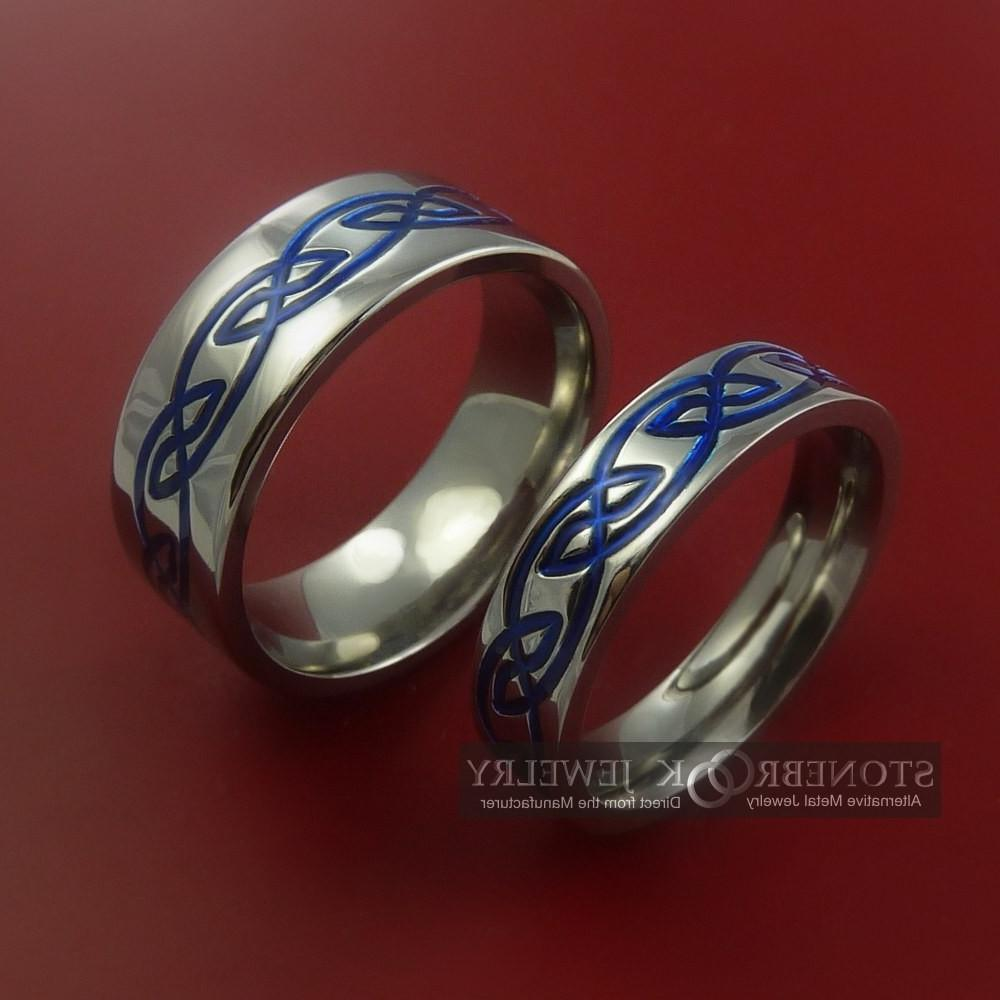 Titanium Celtic Knot Ring Set