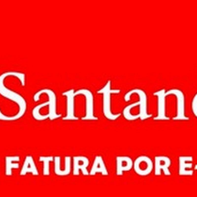 Santander Fatura por E-mail