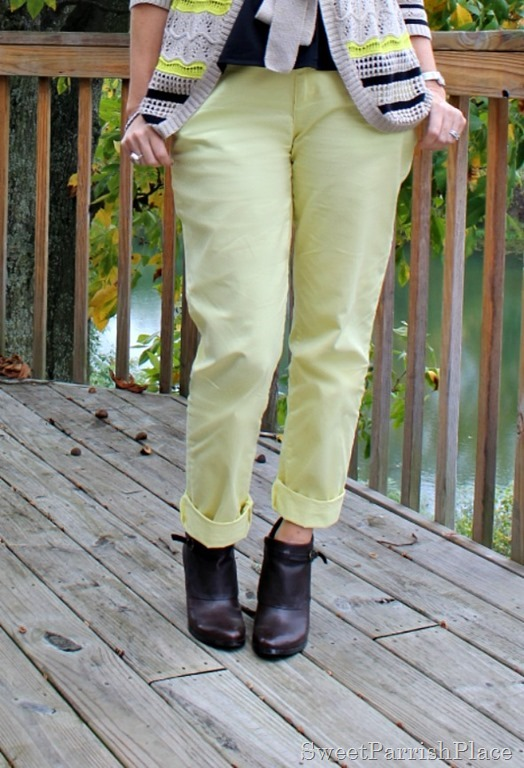yellow-pants-striped-cardigan-brown-booties-4