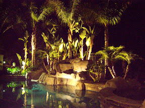 LED Lighting-- the pool's reflection can be part of the design