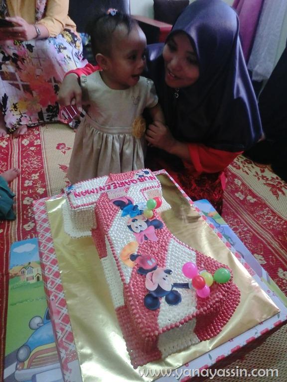 sambutan hari lahir pertama baby perempuan