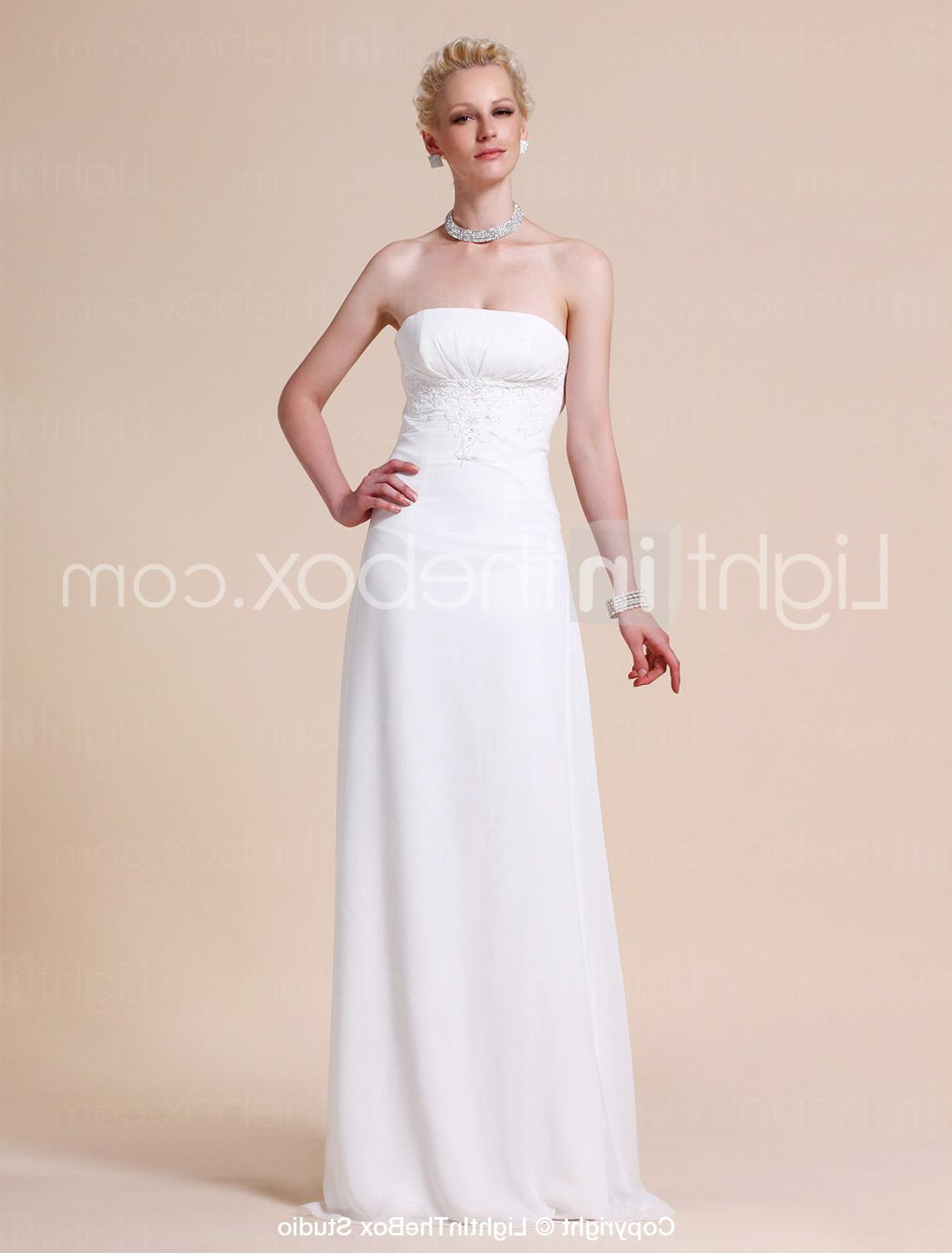 Chiffon Wedding Dress With