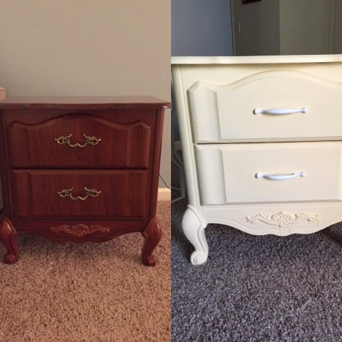 Before and After Chalk paint