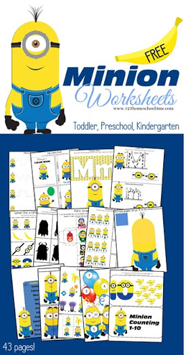 math worksheet : free minion worksheets for kids : Free Printable Worksheets For Preschool And Kindergarten
