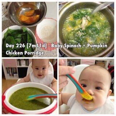 Hugs kisses from mommysheree baby spinach pumpkin chicken baby spinach pumpkin chicken porridge forumfinder Images
