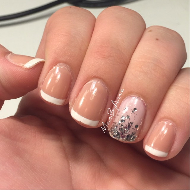 Mani by Annie: Wedding Nails: French + Glitter Ombre