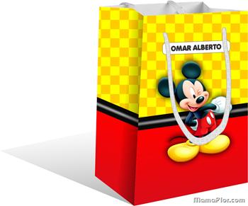 Bolsa Sorpresa de Mickey Mouse para imprimir