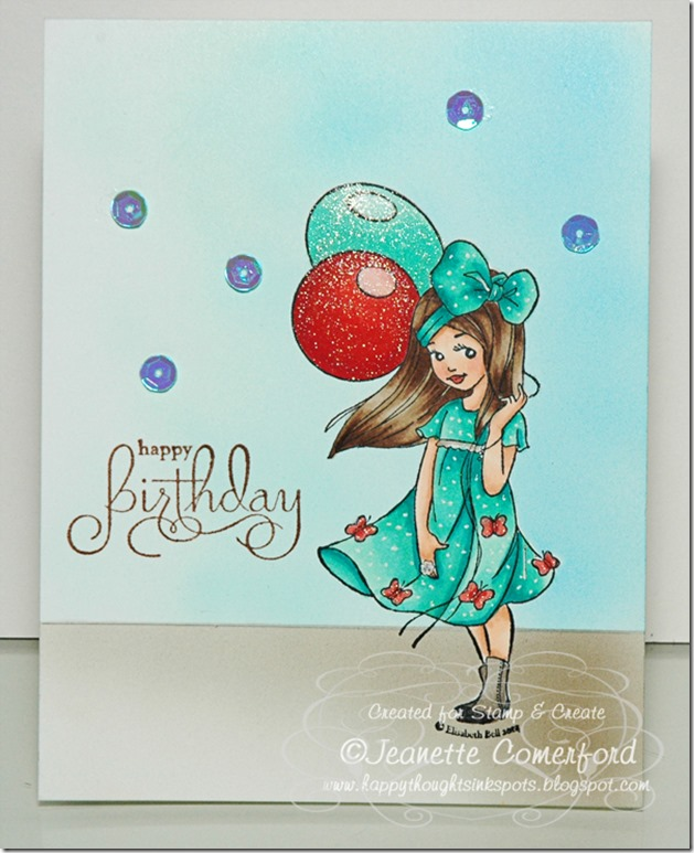 Happy Thoughts Inkspots Stamp And Create A Birthday Card