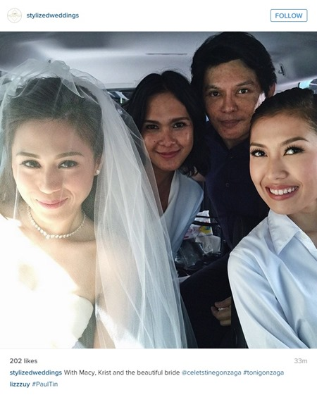 Paul-Celestine wedding - Toni with her glam team