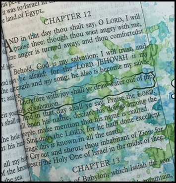 Bible Art Journaling Is 12-3 Joy