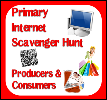 Free internet scavenger hunt to cover producers and consumers for primary students. Includes three differentiated work options.