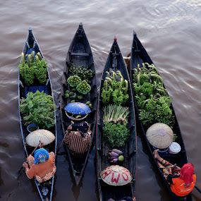Floating Market by Lazuardi Normansah - City,  Street & Park  Markets & Shops