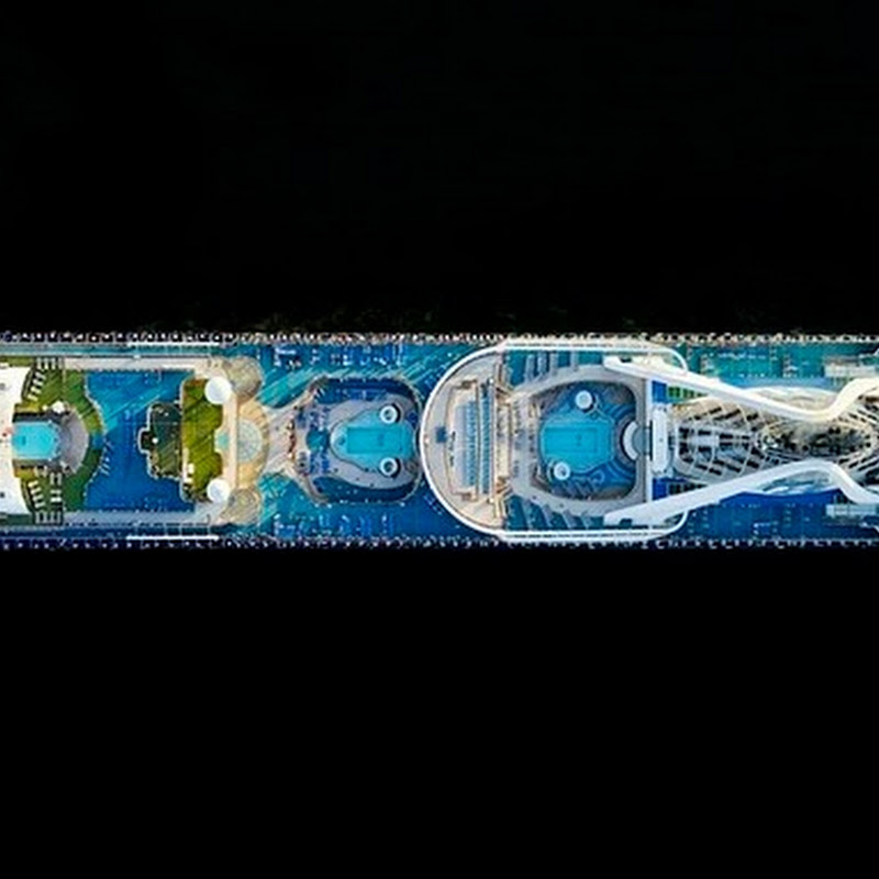 Photographing Cruise Ships From Above by Jeffrey Milstein