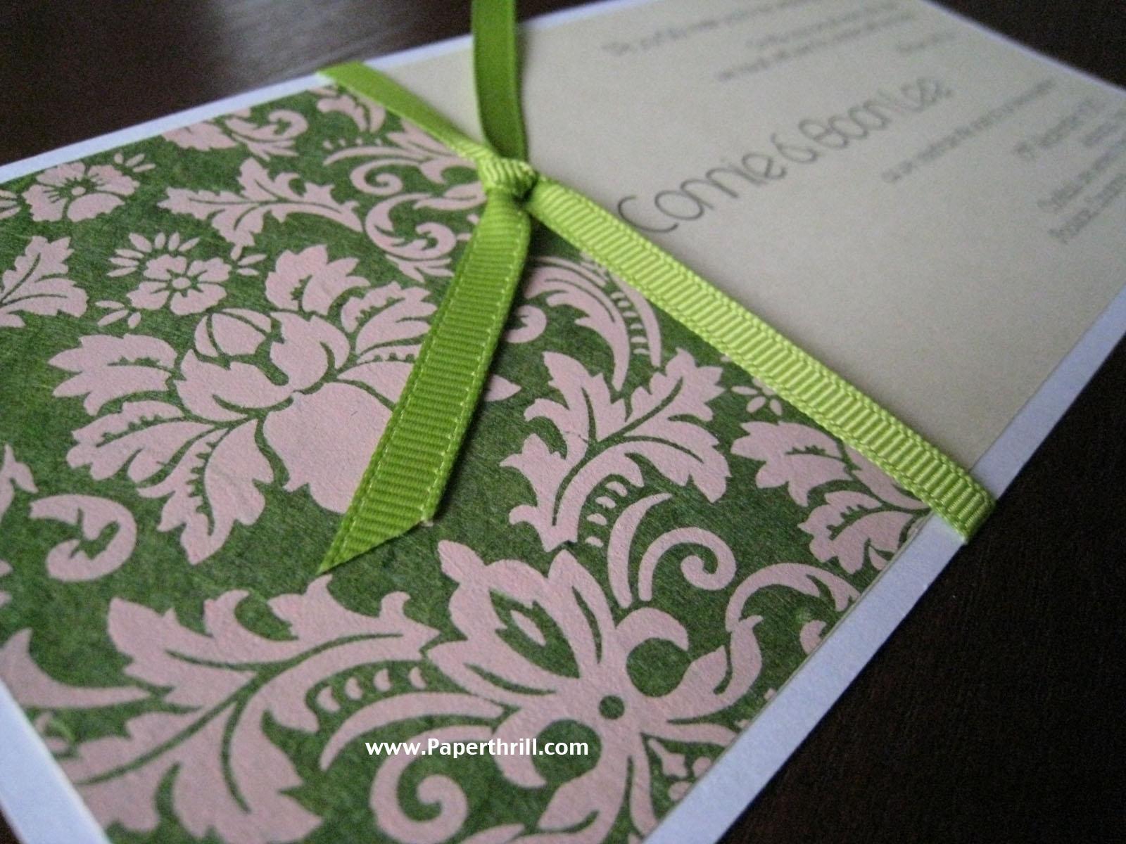 Green damask wedding