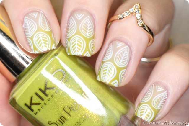 Frischlackiertchallenge Federn Gradient Stamping Moyou Kiko Exotic Leaves Feathers-5
