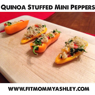 quinoa, kale, stuffed, peppers, healthy, clean, nutrition, 21 day fix recipes, hammer and chisel, appetizers, super bowl, ashley roberts, beachbody coach, delicious, easy, kid friendly, sides