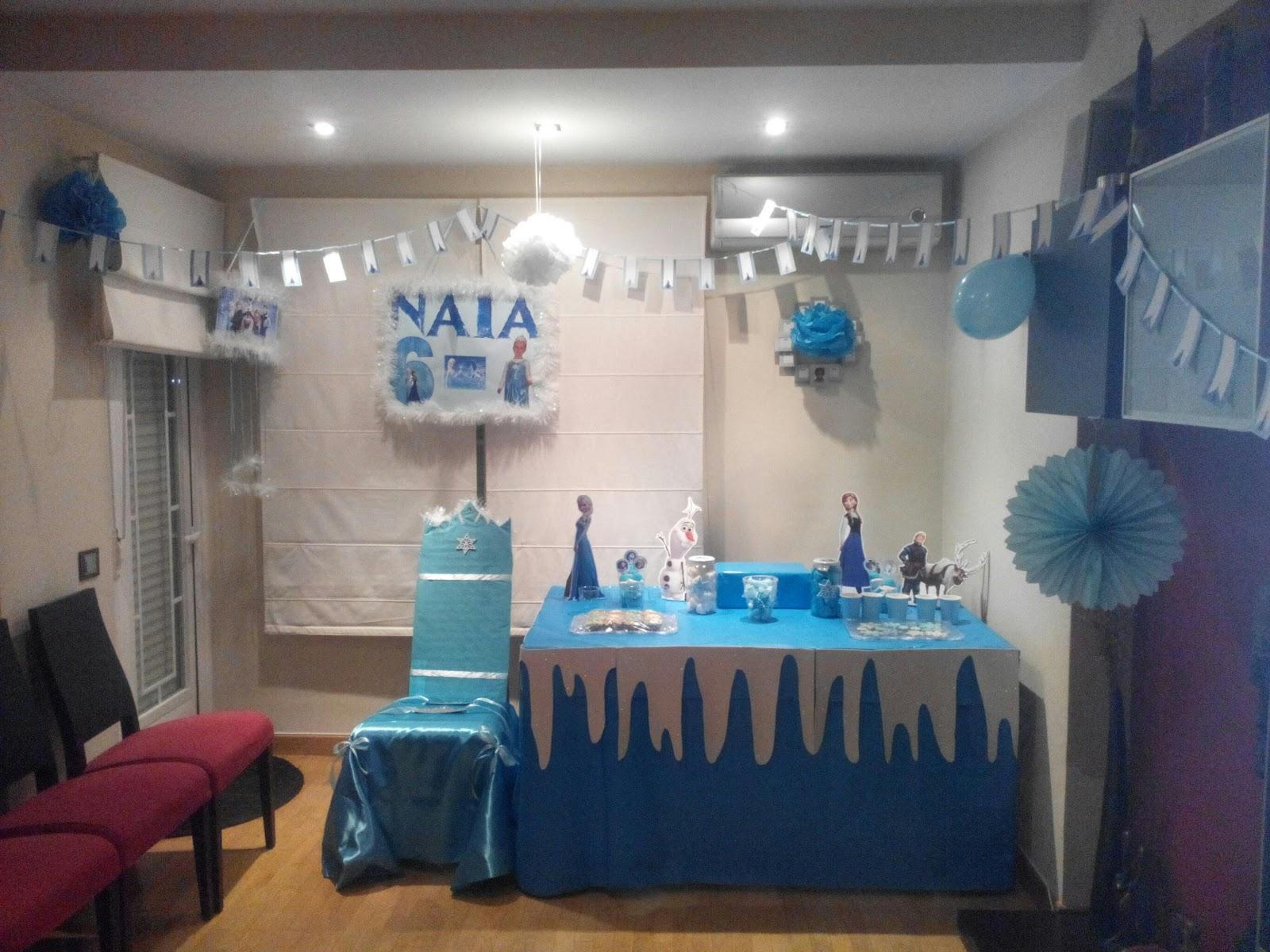 Decoracion casera para fiestas decoracin fiesta frozen - Decoracion fiesta ibicenca casera ...