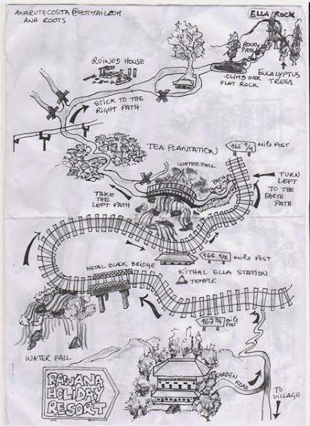 Карта городка Элла, Шри Ланка
