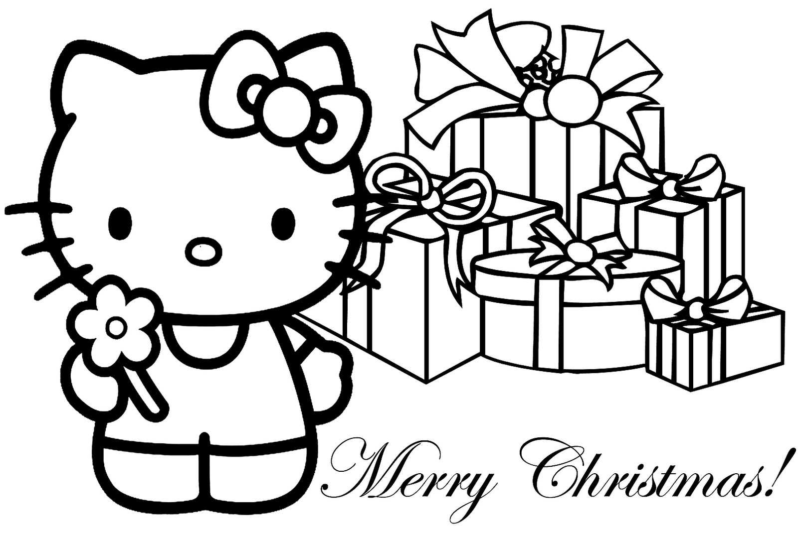 Christmas Coloring Pages Merry-Christmas  - merry christmas coloring pages print