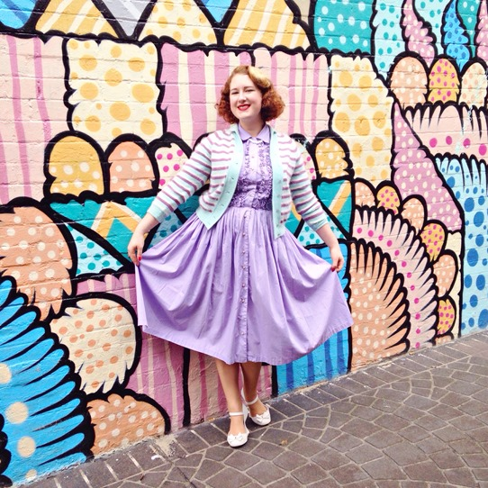 Lavender BonBon for the Sydney Fifties Fair 2015 | Lavender & Twill