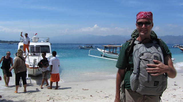 Fresh off the fast boat in Gili T.