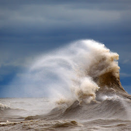 Lake Erie Tempest by Micheal  Yates - Nature Up Close Water ( lakes, storms, roughwaters, lake erie )