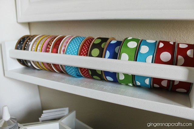 ribbon storage ideas at GingerSnapCrafts.com