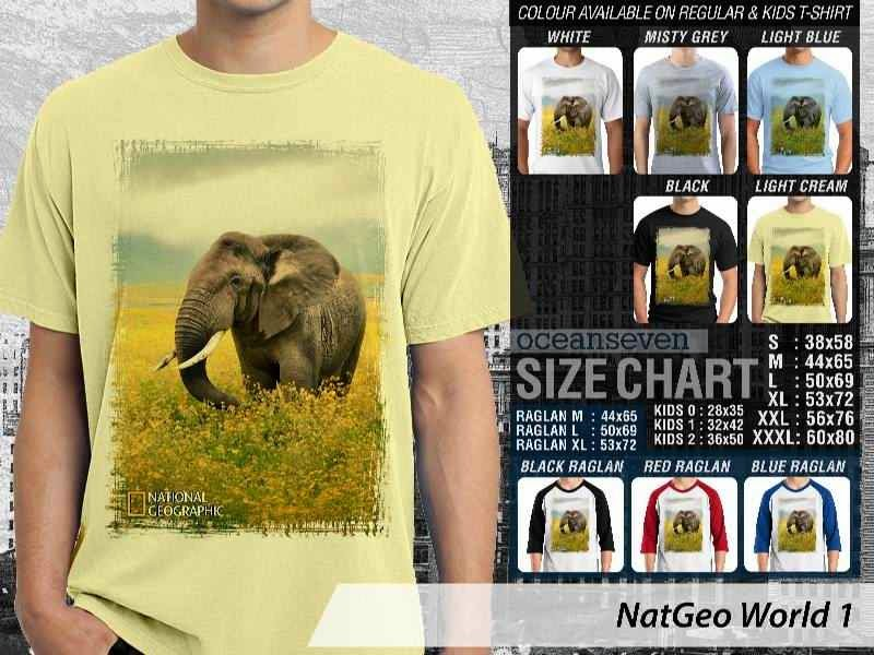 Kaos National Geographic NatGeo World 1 distro ocean seven