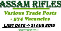 Assam Rifles Jobs 2015