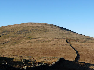 Looking back to Hesk Fell