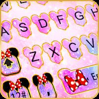 Pink Galaxy Minny Keyboard Theme on PC / Windows 7.8.10 & MAC