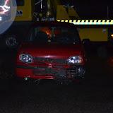 Ongeval bij rotonde Pekela door auto op stuurslot - Foto's Teunis Streunding