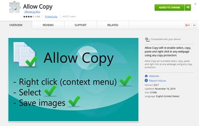 allow copy